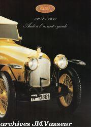 1909 - 1931 Audi à l'avant garde