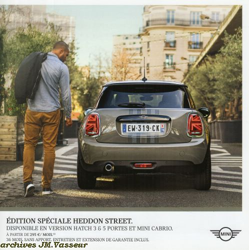Mini Hatch 3 portes / 5 portes – Mini Cabrio HEDDON STREET