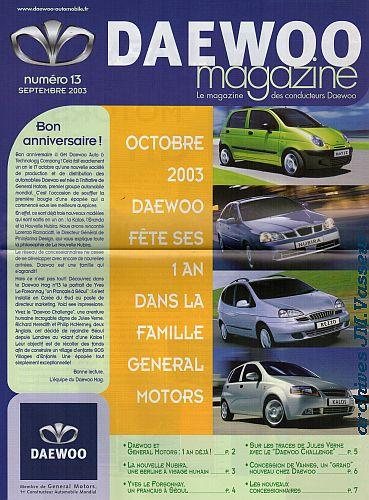 Daewoo Magazine n° 13