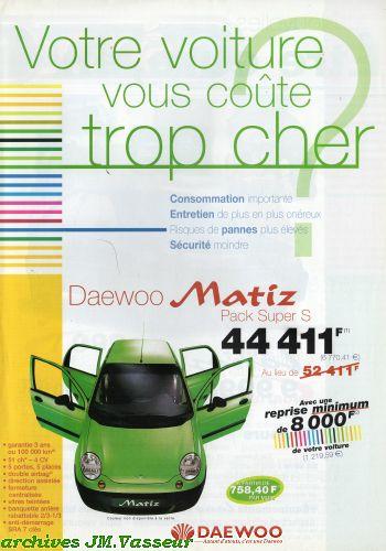 Daewoo : Votre voiture vous coûte trop cher