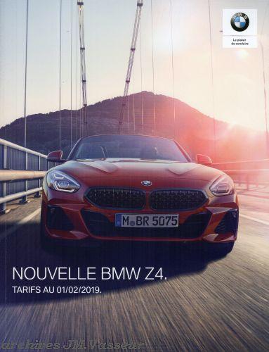 BMW Z4 : Équipements de série, Tarifs et Options
