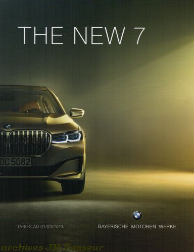 BMW Série 7 : Équipements de série, Tarifs et Options