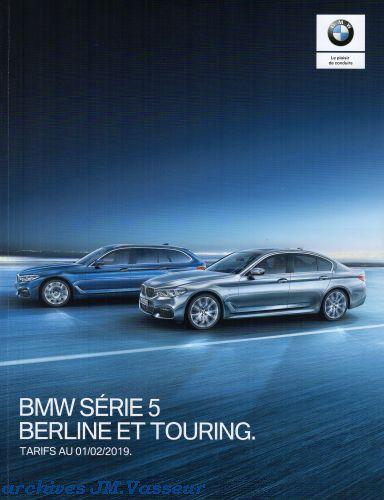 BMW Série 5 Berline / Touring : Équipements de série, Tarifs et Options