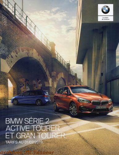 BMW Série 2 Active Tourer / Gran Tourer : Équipements de série, Tarifs et Options