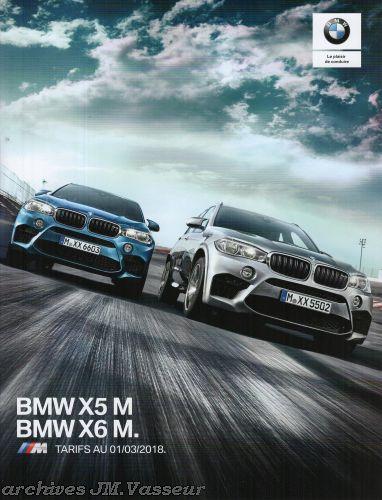 BMW X5 M / BMW X6 M : Équipements de série, Tarifs et Options