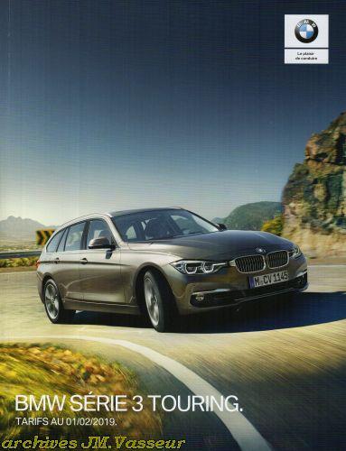 BMW Série 3 Touring : Équipements de série, Tarifs et Options