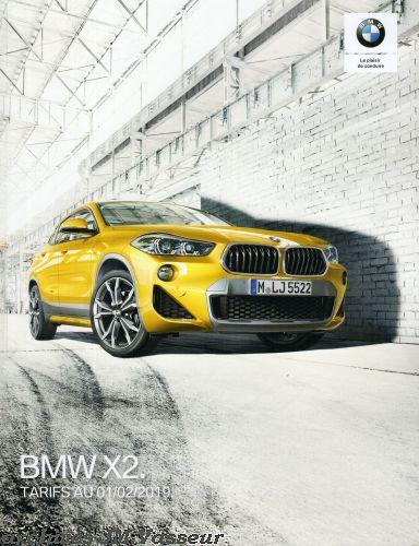 BMW X2 : Équipements de série, Tarifs et Options