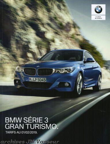 BMW Série 3 Gran Turismo : Équipements de série, Tarifs et Options