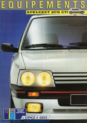 Peugeot 205 GTI : Équipements