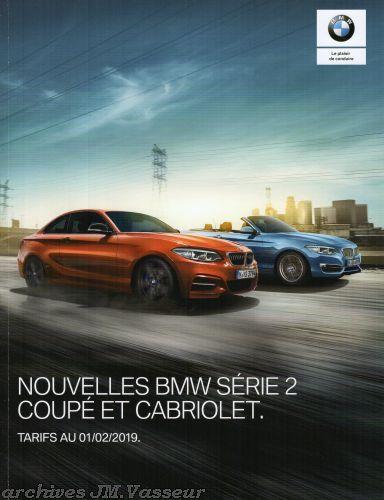 BMW Série 2 Coupé / Cabriolet : Équipements de série, Tarifs et Options