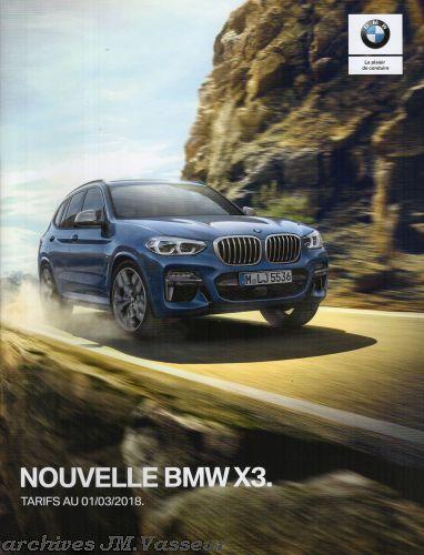 BMW X3 : Équipements de série, Tarifs et Options