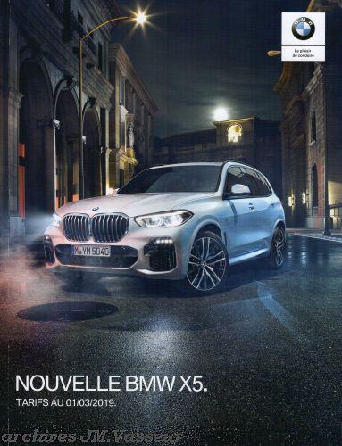 BMW X5 : Équipements de série, Tarifs et Options
