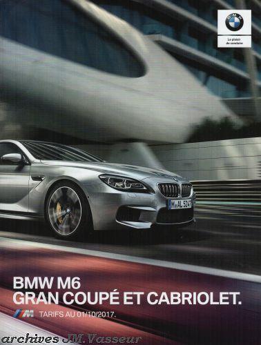 BMW M6 Gran Coupé et Cabriolet : Équipements de série, Tarifs et Options