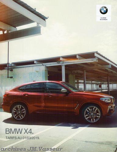 BMW X4 : Équipements de série, Tarifs et Options