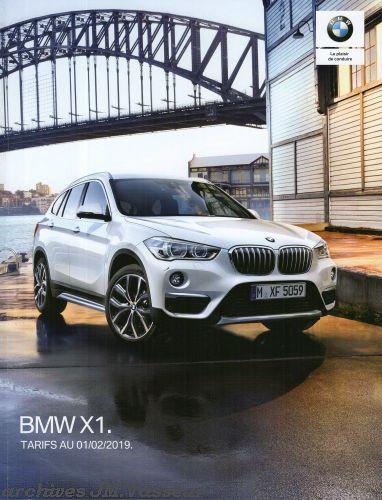 BMW X1 : Équipements de série, Tarifs et Options
