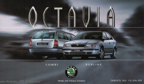 Škoda Octavia : Tarifs 15.04.99