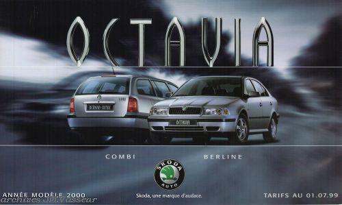 Škoda Octavia : Tarifs 01.07.99