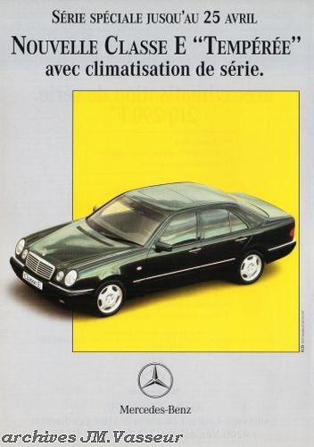 Mercedes-Benz Classe E TEMPÉRÉE
