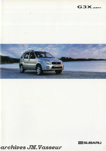 Subaru Justy G3X