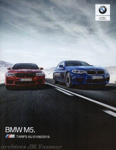 BMW M5 : Équipements de série, Tarifs et Options