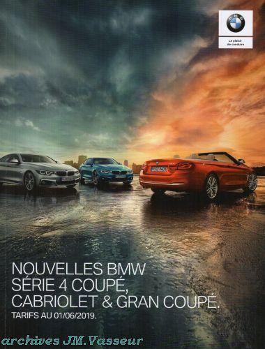 BMW Série 4 Coupé, Cabriolet & Gran Coupé : Équipements de série, Tarifs et Options