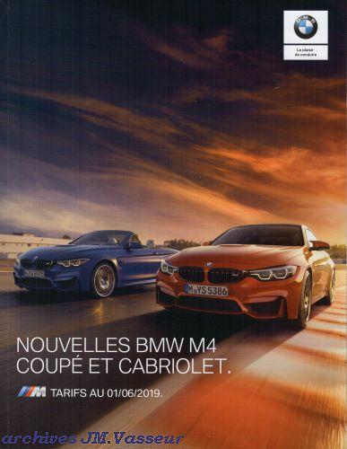 BMW M4 Coupé / M4 Cabriolet : Équipements de série, Tarifs et Options