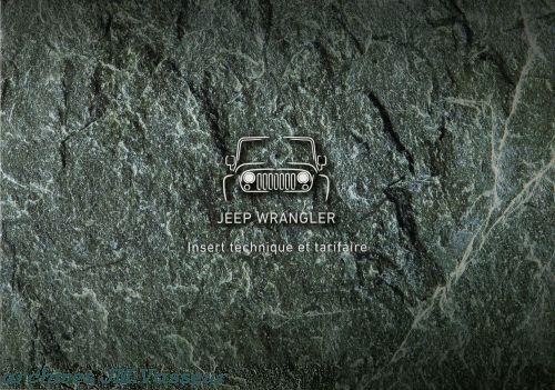 Jeep®Wrangler : Insert technique et Tarifaire