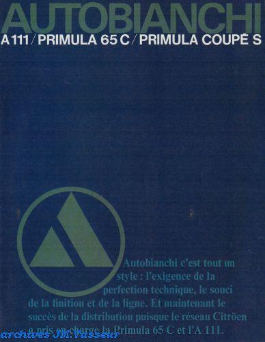 Autobianchi Gamme A111 / Primula