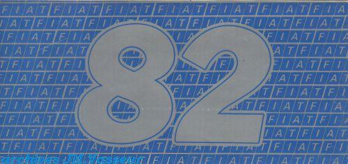 Fiat Gamme Fiat 1982