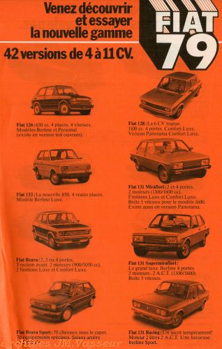Fiat Gamme Fiat 1979