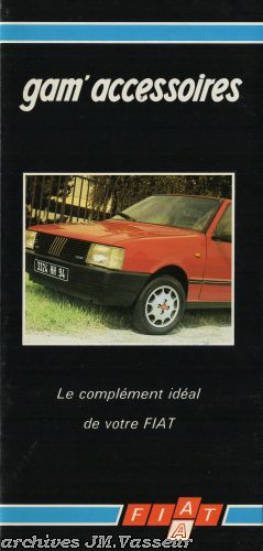 Fiat Gamme Fiat : Accessoires