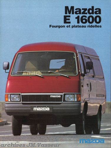 Mazda Série E Fourgons / Plateau ridelles