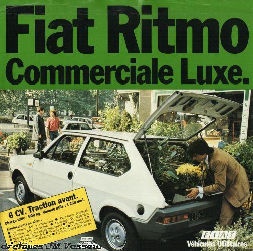 Fiat Ritmo COMMERCIALE LUXE