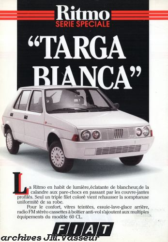 Fiat Ritmo II TARGA BIANCA