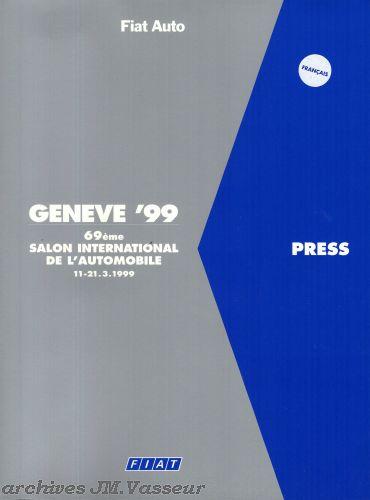 Fiat : Dossier de presse Salon de Genève 1999