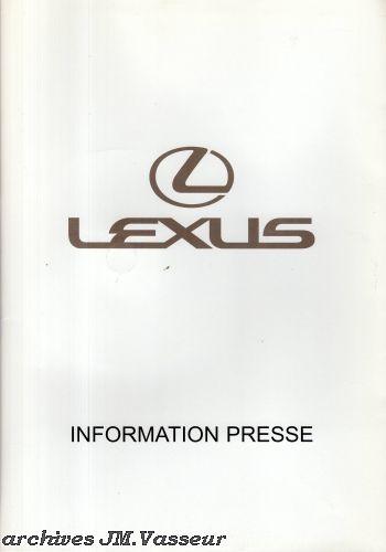 Lexus : Dossier de presse Salon de Genève 2010