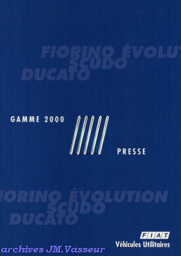 Fiat Gamme Fiat Utilitaires 2000