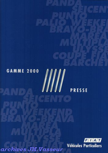 Fiat Gamme Fiat 2000
