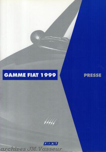 Fiat : Dossier de presse Mondial de l'Automobile 1998