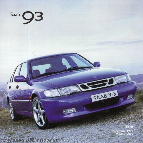Saab 93 : Tarif AM 2000