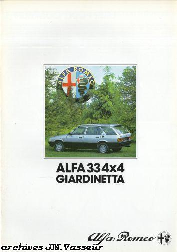 Alfa Romeo 33 4×4 GIARDINETTA