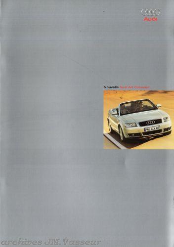 Audi A4 Cabriolet : Caractéristiques techniques et Équipements