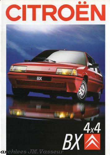 Citroën BX BERLINE / BREAK 4×4