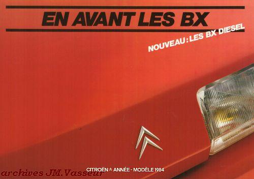 Citroën BX BERLINES  AM 1984