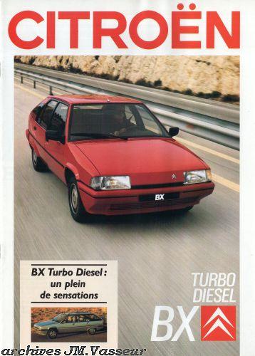 Citroën BX BERLINE / EVASION TURBO DIESEL