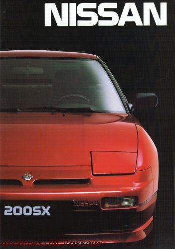 Nissan Gamme Nissan 1989