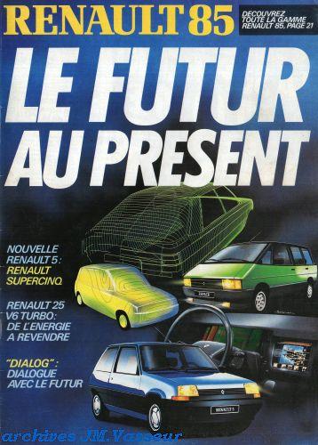 Renault Gamme Renault AM 1985